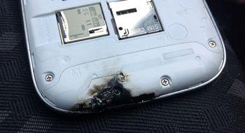 Samsung-flaggskipet tok fyr