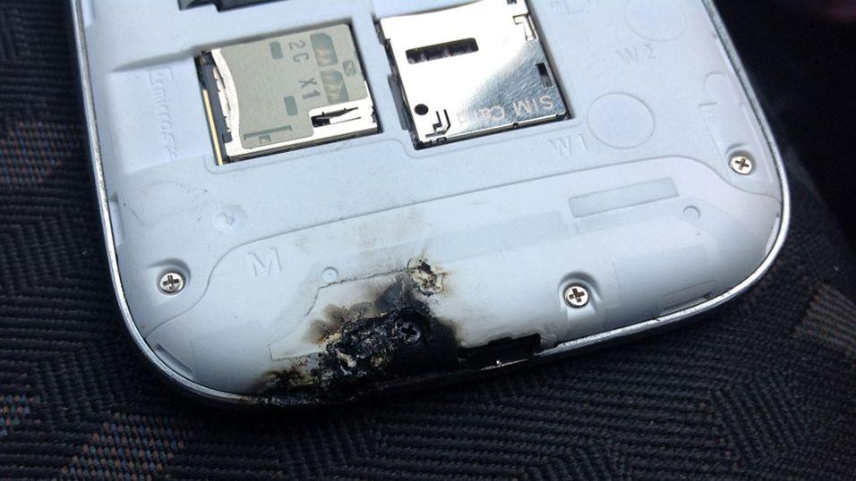 Samsungs supermobil tok fyr