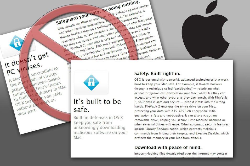 """Apple har endret teksten på """"hvorfor du kommer til å elske Mac""""-delen av nettsiden sin."""