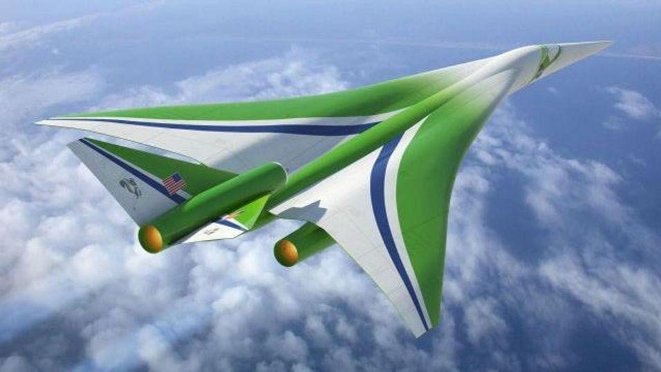 DESIGNSKISSE: NASA har tidligere publisert denne konsepttegningen av X-54. Nærmere detaljer på Concordens arvtager skal bli offentliggjort på Farnborough internasjonale flyshow i London mellom 8. og 15. juli 2012.