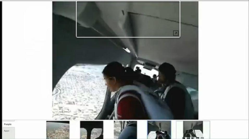 Her skal de hoppe ut av et luftskip med Google-brillene