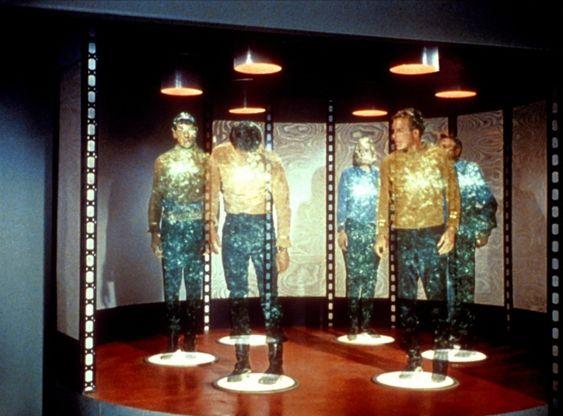Teleportering fra den første Star Trek-serien.
