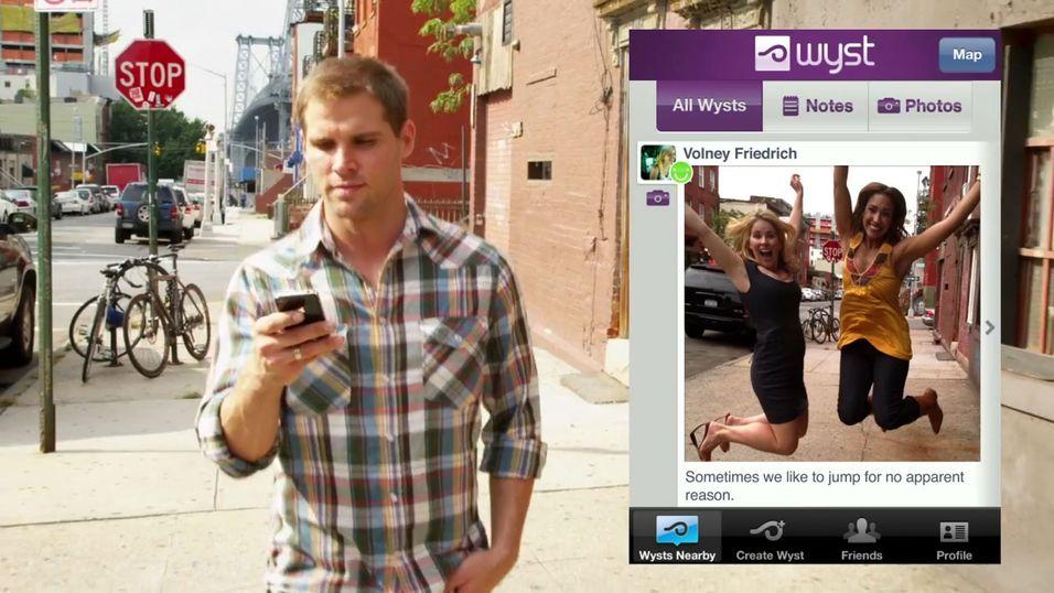 Wyst lar brukerne tagge bilder og kommentarer til geografiske steder.