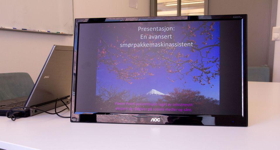 AOC' USB-skjerm er enkel å ta med seg fra møterom til møterom.