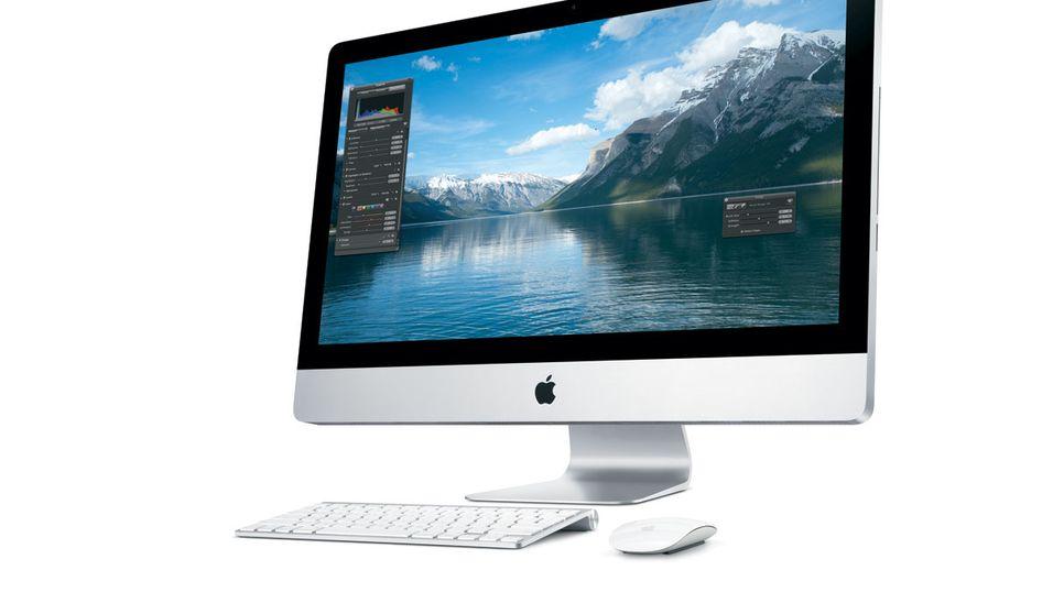 Dagens iMac-modell. I oktober kan den få Retina-skjerm.