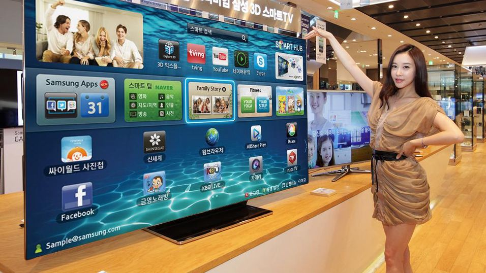 Samsung slipper enorm Smart TV
