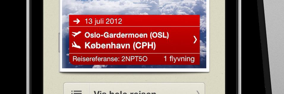 Norwegian med reiseassistent til mobilen
