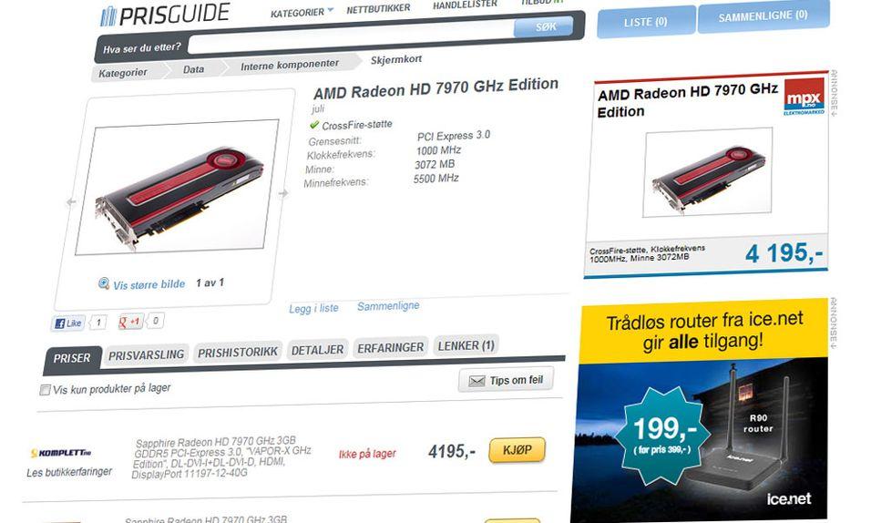 AMDs kraftigste skjermkort har fått norske priser.