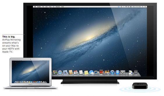 Med Mountain Lion kan du speile hele skjermbildet, rett opp på TV-en.