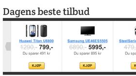 Hver dag finner vi de beste tilbudene i norske nettbutikker.
