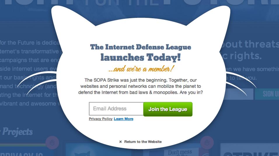 Et eksempel på hvordan IDL vil advare mot nye trusler mot Internett.