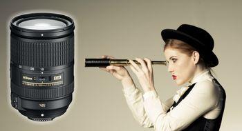 NIKKORAF-S DX18 - 300 mm f/3.5-5.6G ED VR Vid og trang på en gang