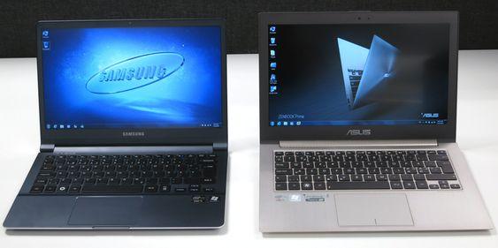 To gode konkurrenter: Samsungs 9-serie og Asus Zenbook Prime.
