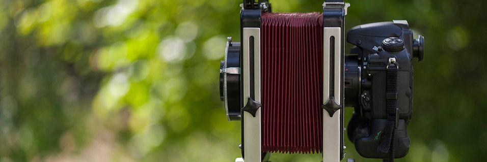 Bruker D800 som storformatskamera