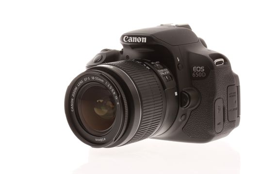 Canon EOS 650D med 18-55mm f/3.5-5.6 IS II.