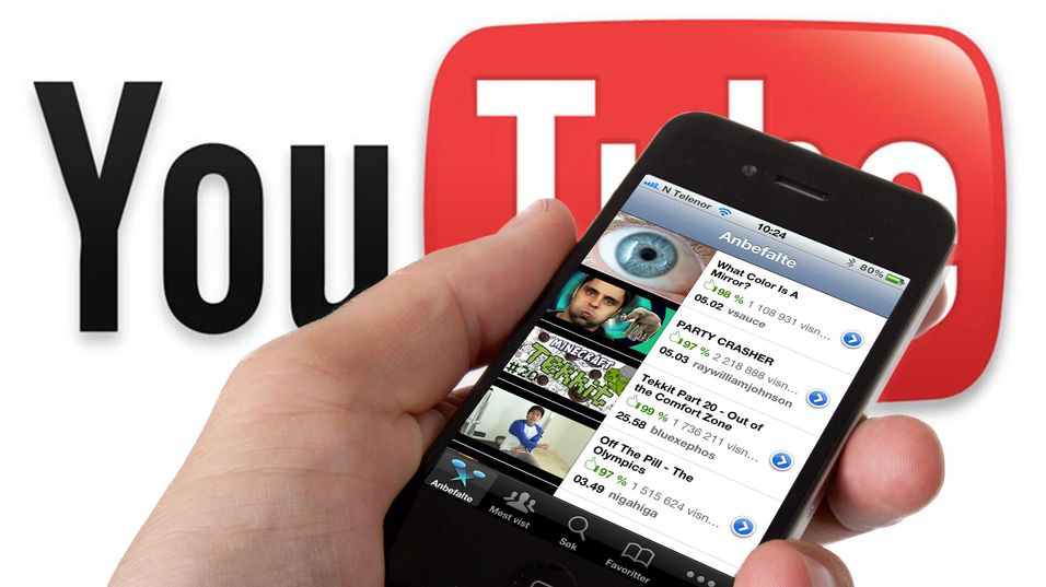 Apple fjerner YouTube