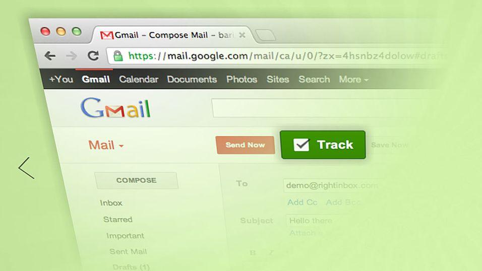 RightInbox lar deg spore e-postene du sender, og gir deg svar på hvor, når og om de blir åpnet.