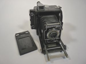 Graflex Speed Graphic mellomformatkamera.