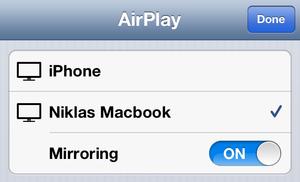 AirServer støtter speiling av skjermbildet fra både iOS og OS X Mountain Lion.