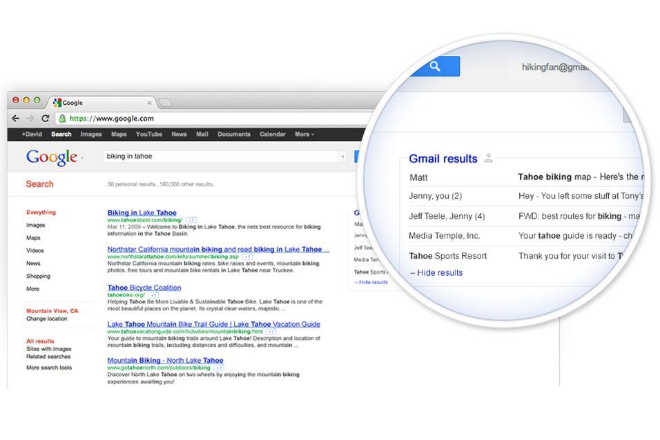 Google vil gi deg e-post-treff når du søker