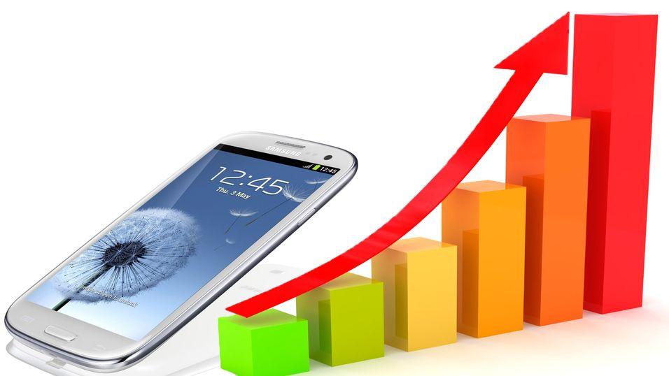 Kraftig vekst i smartmobilsalget
