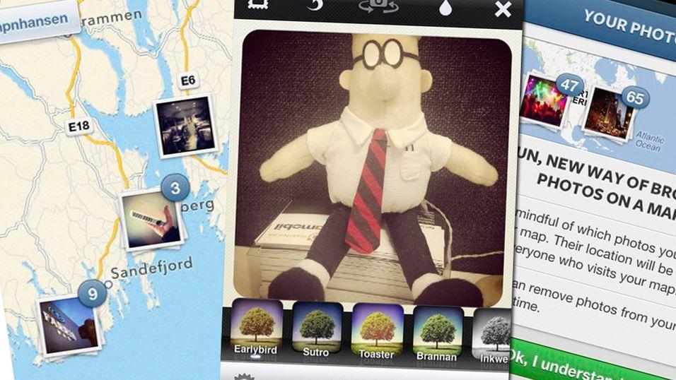 Instagram har fått stilige fotokart