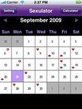 HOLDER DEG OPPDATERT: Appen har en fin kalender som gir deg full oversikt over dine seksuelle krumspring. Om det er mulig å lagre «vanlige» avtaler i kalenderen vites ikke.