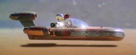 Svevesykkelen minner om denne farkosten fra Star Wars.