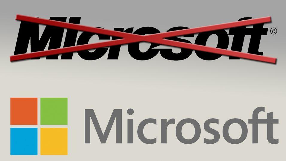 Her er Microsofts nye logo