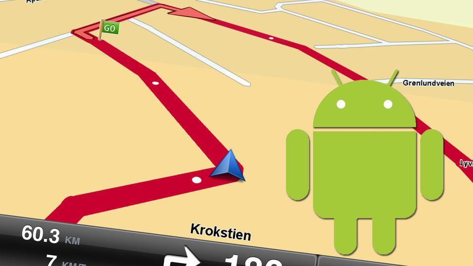 TomTom kommer til Android. Skjermbildet er fra iPad-versjonen.