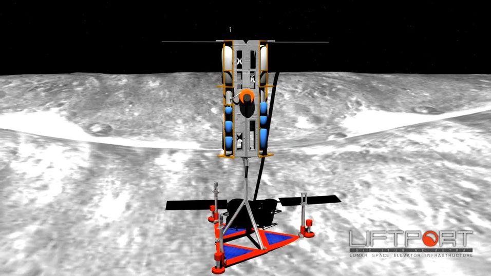Slik vil romheisen se ut på månens overflate.