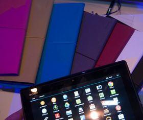 Sony lager deksler i mange farger til Xperia Tablet S.