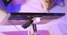 Slik ser Xperia Tablet S ut fra baksiden.