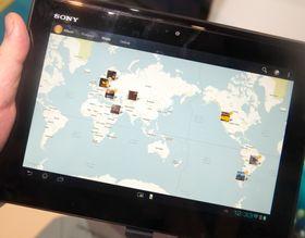 I galleriet får du se bildene dine spredt ut over et kart, avhengig av hvor de er tatt.