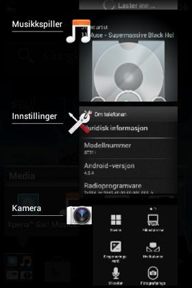 Slik er fleroppgavebehandleren i Android OS 4.0.4.