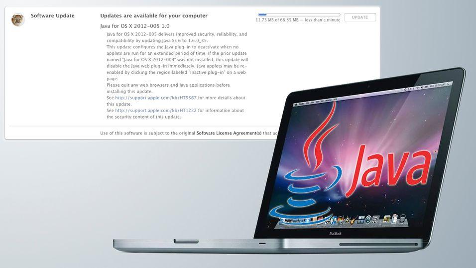 Java vil skru seg av automatisk på Macen din hvis den ikke trengs.