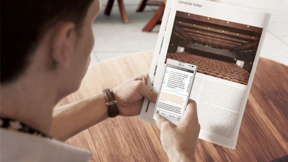 LG Optimus L9 kommer med programvare som automatisk oversetter tekst som du skanner inn med mobilen.