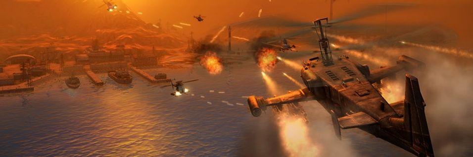 Store eksplosjoner i nytt helikopterspill
