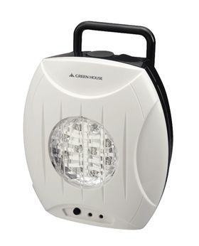 En LED-lampe drevet av saltvann.