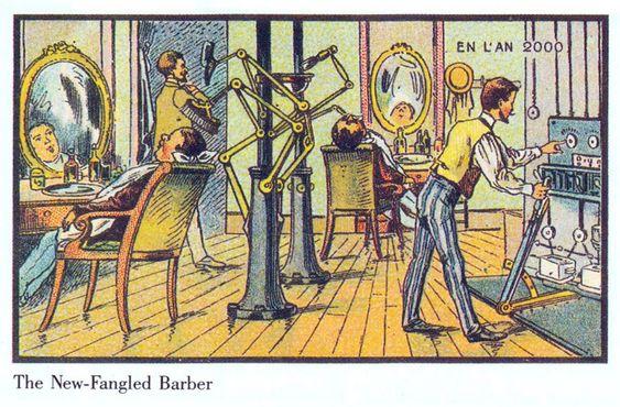 BARBERMASKIN: Å gå til barbereren er kanskje ikke så vanlig lenger, spesielt ikke etter en litt mer hendig versjon av denne barbermaskinen kom ut.