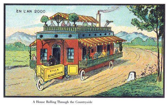 BOBIL: En campingtur ble uheldigvis aldri så luksuriøs som på den er på denne illustrasjonen.