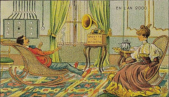 DAGSNYTT 18?: De første radiobølgene ble sendt på slutten av 1800-tallet, men nyhetene på radioen var enda ikke dagligdags i 1900. I 2000 mente kunstnerne hadde ville være helt vanlig.