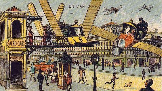DRØMMER FORTSATT: Flyvende biler var noe man drømte om i 1899 og er noe vi drømmer om fortsatt.