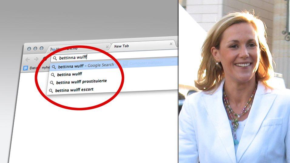 Bettina Wulff saksøker Googles autofullfør-tjeneste
