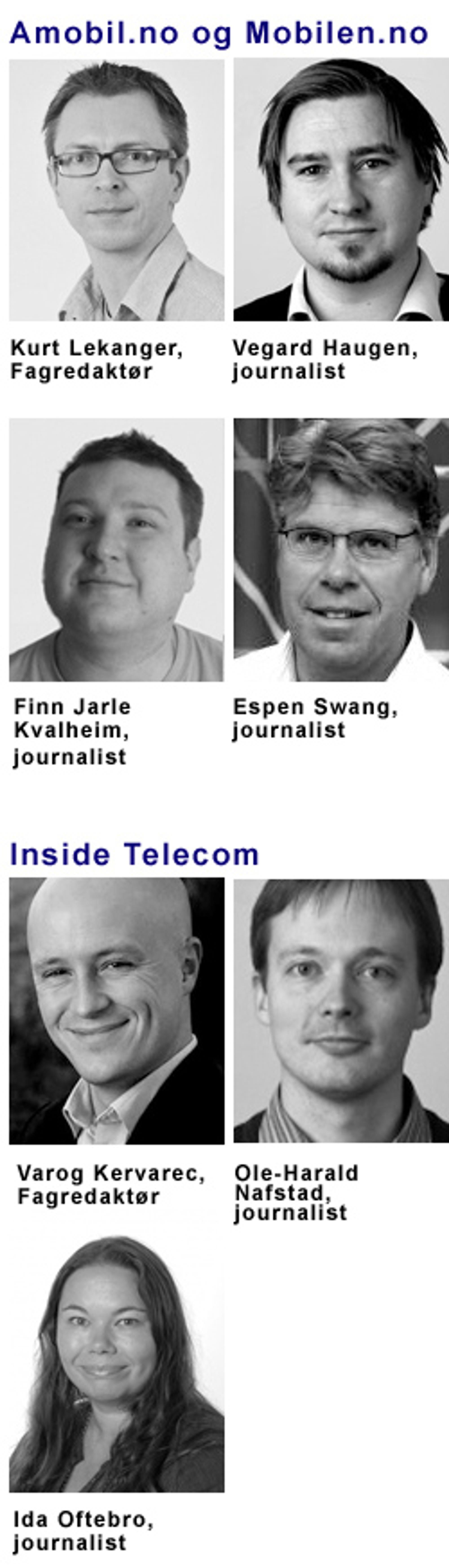 NORGES STØRSTE MOBILREDAKSJON Mobilredaksjonen i Mediehuset Tek teller sju faste journalister, i tillegg til en rekke frilansere.
