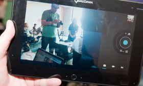 Det er et uvanlig høyoppløst kamera i Qualcomms referansenettbrett. Årsaken til det er at selskapet også lager programvare for bruk av denne maskinvaren.