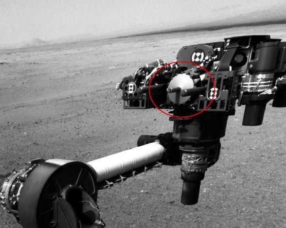 MULIG SMITTEBÆRER: Dette er stridens hode. Det er deler til denne drillen NASA utsatte for jordiske mikrober før kjøretøyet ble sendt til Mars.