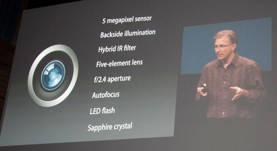 iPod Touch har et fem megapiksel kamera.