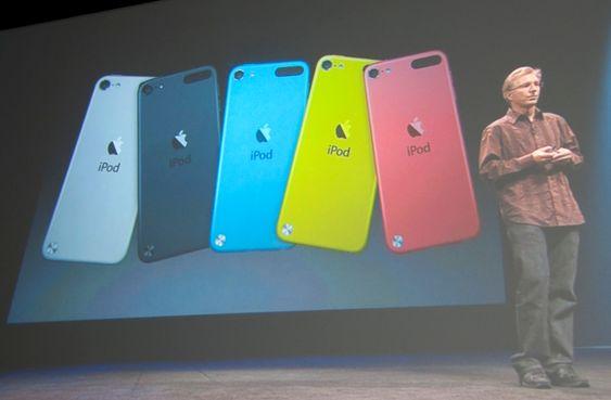iPod Touch fås i en rekke farger.