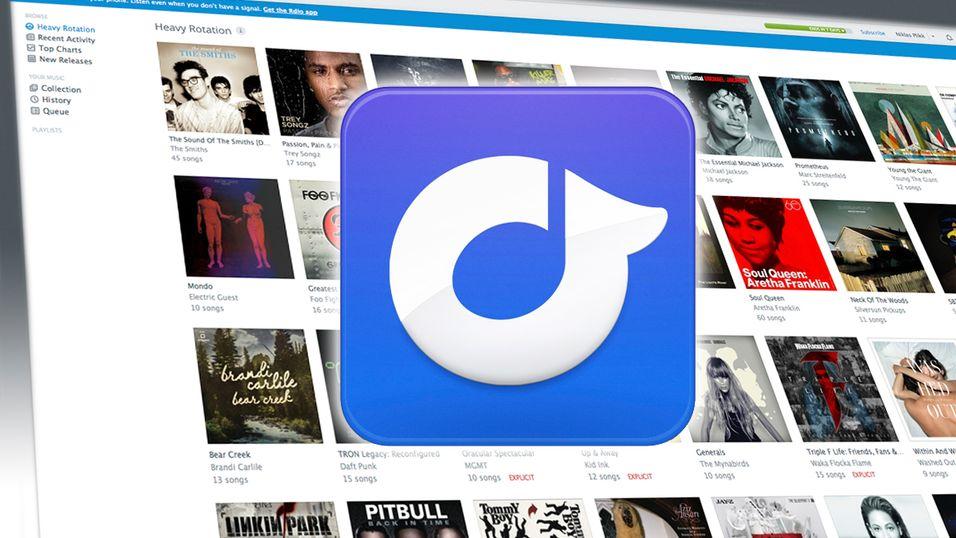 Rdio kan tilby et like stort musikkbiblotek som Spotify, og har i tillegg en nettleserapplikasjon.